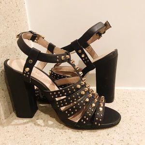 ALDO // studded black heels